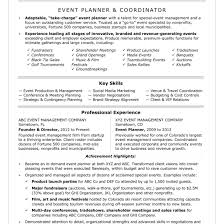 Event Coordinator Resume Sample Monster Within For Ideas Of Event