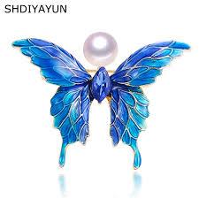 2019 <b>SHDIYAYUN</b> 2019 <b>New</b> Enamel Butterfly Brooch Natural ...