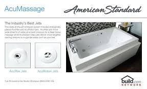 american standard bath tubs white cadet 7 8 acrylic whirlpool bathtub with left hand drain and