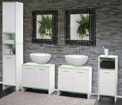 Badezimmer Set Arezzo Waschbeckenunterschrank Hochschrank Kommode