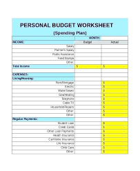 Personal Budget Template Google Sheets Monthly Spreadsheet Template Madebyforay Co