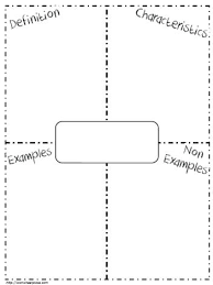 Frayer Definition Template Design Pattern The Can Be Used To Show Definition