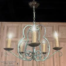 country french lighting. Antique Country French Painted Wrought Iron Chandelier Lighting O