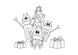 Find all the coloring pages you want organized by topic and lots of other kids crafts and kids activities at check out our free printable coloring pages organized by category. Story Bots Christmas Special Coloring Page Drakl