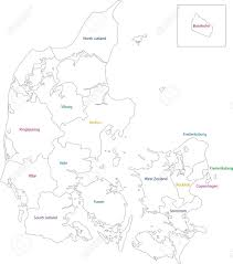 Map of administrative divisions of denmark royalty free cliparts 21813567 map of administrative divisions of denmark