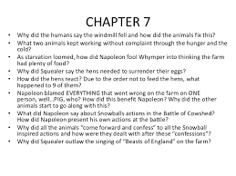 animal farm chapter questions 3