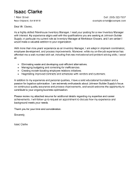 Stock Controller Cover Letter Best Inventory Manager Cover Letter
