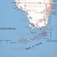 Key Largo Fishing Charts Top Spot Fishing Map N207 Florida Bay Upper Keys Area