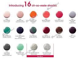 Essie Gel Colors Chart Color Chart Right Below For Detail 16 New Shades Essie Gel