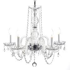 46 most superlative crystal candle chandelier non electric with lamp contemporary for beautiful and cast iron
