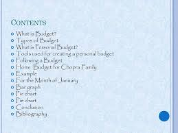 Project On Family Budget For A Month Maths Project Home Budget Ppt Download