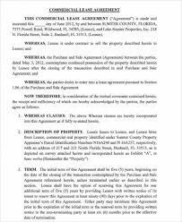 Standard Commercial Lease Agreement Sample Standard Commercial Lease Agreement Acepeople Co