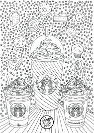 Coloriage Starbucks Coffee Tea Coloring Pages For Adults