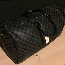 louis vuitton holdall. louis vuitton darmier black/grey hold-all travel bag holdall
