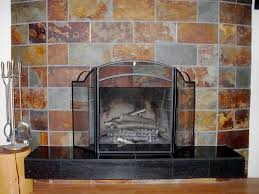 lava multi slate tile fireplace surround