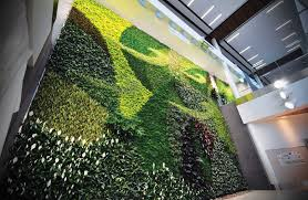 green wall lighting. Wonderful Cafes Decoration With Outdoor Green Wall Design Combine Astounding Lighting