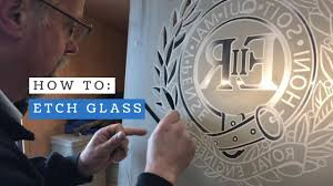how to etch glass sand blast carving technique royal engineers cap badge