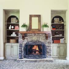 keystone fireplace header living room transitional with ...