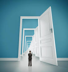 many open doors.  Open Opening Doors Throughout Many Open