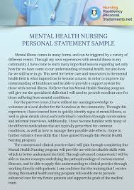 nurse personal statement mental health nursing personal statement help