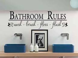 popular items bathroom wall es decals modern simple bold black text letters sink double blue ceramics cabinet