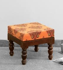 impori solid wood foot stool in