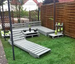diy pallet garden and patio furniture set unique grey outdoor picture