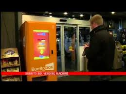 Burrito Vending Machine Delectable First Ever Burrito Vending Machine YouTube