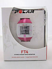 polar ft4 heart rate monitor polar ft4 pink heart rate monitor watch and chest strap brand new