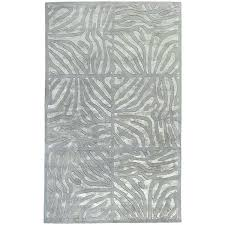 grey animal print rug hand tufted zebra divine wool area 5 x 8