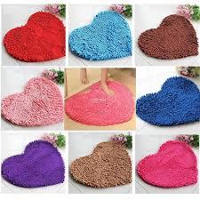 cute love heart shaped non slip bathroom rug carpet bath mat