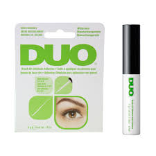Eyelash Brush Duo Clear Brush On Strip Eyelash Adhesive With Vitamins