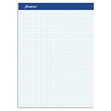 Ampad Evidence Quad Dual Pad Quadrille Rule Letter Size 8 5 X 11 75 White 100 Sheets Per Pad 20 210