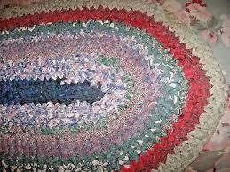 4 of 11 vintage handmade oval rag rug braided cotton rag multi color handcraft 18