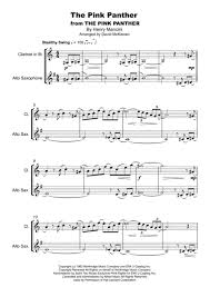 alto sax pink panther sheet music download the pink panther from the pink panther duet for clarinet