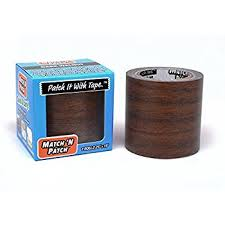 match n patch realistic repair tape dark walnut