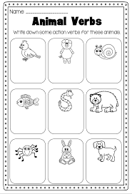 Verbs Printable Worksheet Pack - Kindergarten First Second Grade ...
