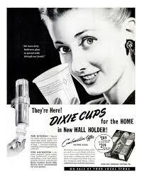 1949 dixie cup ad bathroom art vintage