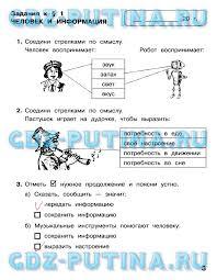 ГДЗ по информатике класс Матвеева рабочая тетрадь Страница 3