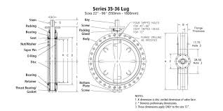 Bray Full Flanged Large Diameter Resilient Seated Butterfly