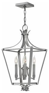 hinkley lighting fleming 4493pl 4 light single tier chandelier