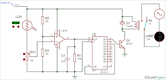 Ldr Circuit Diagram For Street Light Wireless Switch Circuit Diagram Using Ldr And Cd4017 Ldr
