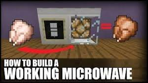 how to make a tv in minecraft. How To Make A Working Microwave In Minecraft Tv