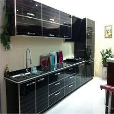 high gloss black kitchen cabinet designs
