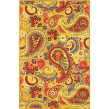sweet home s sweet home collection paisley design yellow 5 ft x 7 ft