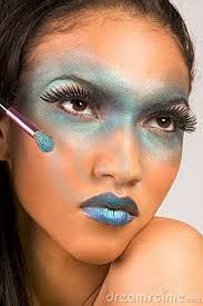 exotic blue make up