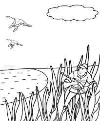 Small Picture Coloring Pages Bow Hunting Coloring Page Free Printable Coloring