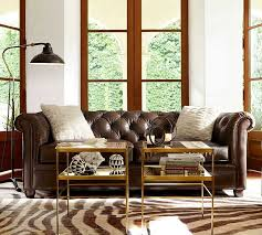 design virtual taupe walls with chesterfield sofa living room of pottery barn leather couch
