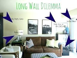 how to decorate a long wall in living room decorate big wall living how to decorate big wall decoration
