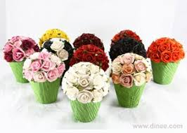 Paper Flower Pots Roses Topiary On Paper Pot Gift Box Buy Flower Gift Box Product On Alibaba Com